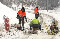 Eisenbahn ÖBB Ennstal beschädigte Bahnstrecke