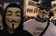 Demonstranten gegen ACTA in Graz
