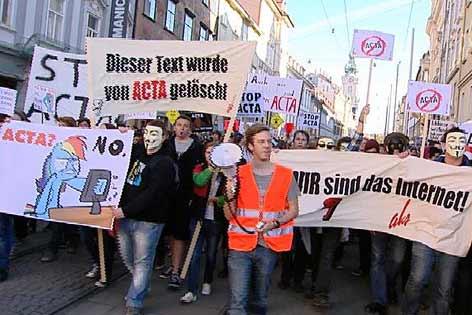Demonstration gegen ACTA in Graz