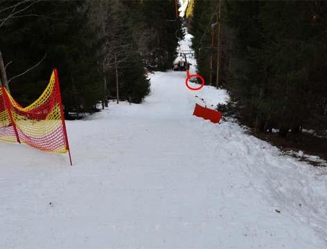Tödlicher Skiunfall Weißbriach, Unfallort