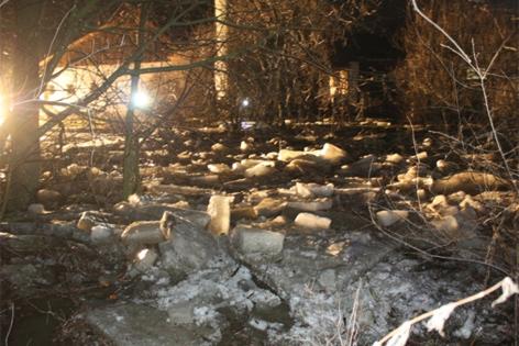 Eisbrocken in der Thaya