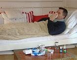 Grippe Kranker krank Schnupfen
