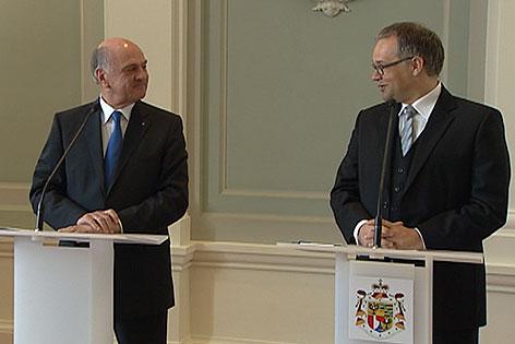 Erwin Pröll und Klaus Tschütscher