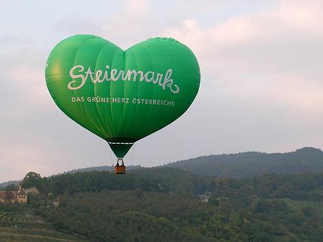 Der Steiermark-Herz-Ballon