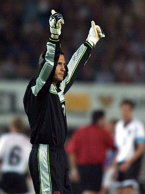 Michael Konsel beim Länderspiel Österreich gegen Frankreich 1998
