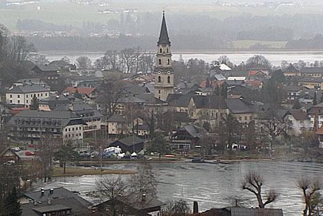 Die Gemeinde Mattsee zwischen Mattsee und Obertrumer See