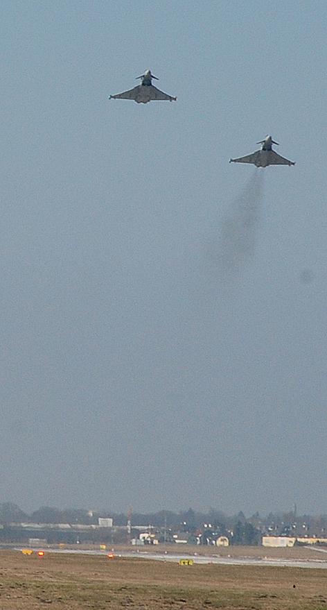 Eurofighter auf dem Salzburg Airport