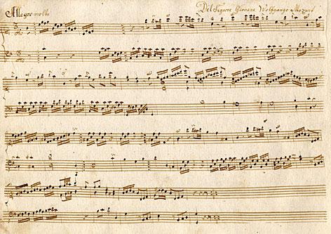 """Das neu entdeckte """"Allegro molto"""" in C-Dur von Wolfgang Amadeus Mozart"""