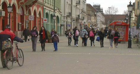Blick in die Altstadt von Subotica