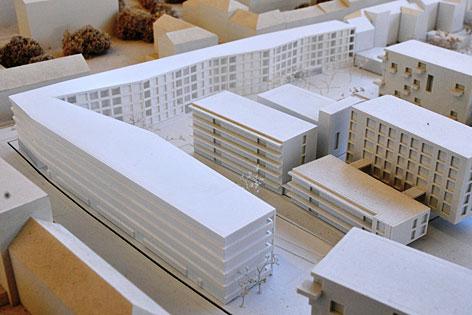 Modell der neugebauten Strubergassen-Siedlung