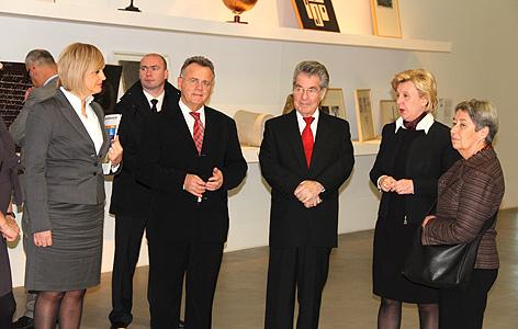 BP Heinz Fischer und LH Hans Niessl in Kroatien