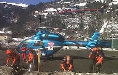 Hubschrauber Lawine Neukirchen