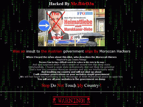 Screenshot der Scheibbser Homepage