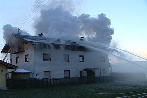Hausbrand in Henndorf