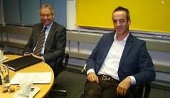 Landesstatthalter Karlheinz Rüdisser, Hans Peter Lorenz - Geschäftsführer der VOGEWOSI