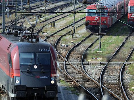 """Illustration zum Thema """"Verkehr, Bahn und ÖBB""""."""