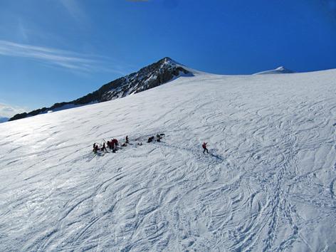 Gletscher mit Bergearbeiten