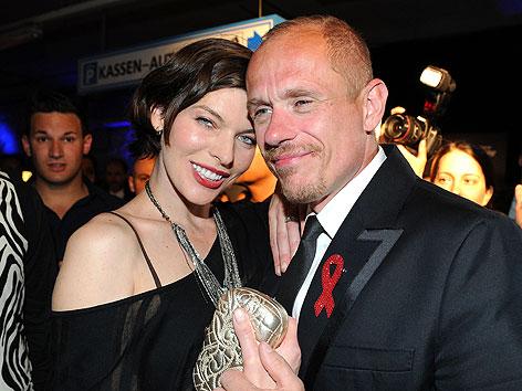 Welcome Party anl. des Life Ball 2012 mit Hollywood-Schauspielern Milla Jovovich und Life Ball-Organisator Gery Keszler