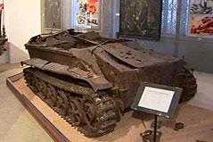 Ein bei Bauarbeiten für den Hauptbahnhof gefundener Panzer im Heeresgeschichtlichen Museum Wien