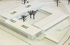 Modell des Gefängnis-Neubaus in Puch-Urstein