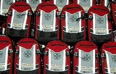 Defibrillatoren-Rucksäcke der Bergrettung