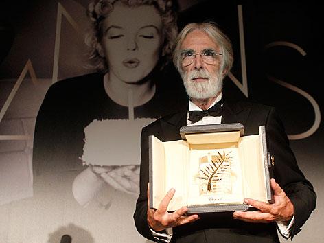 Regisseur Michael Haneke beim Filmfestival in Cannes mit der Goldenen Palme 2012