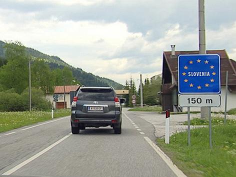 Slowenische Grenze