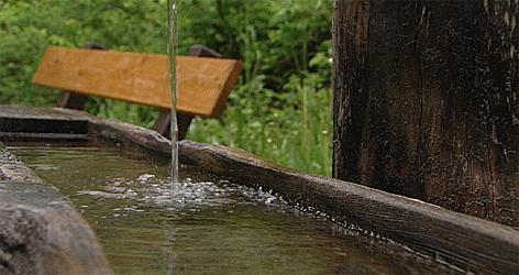 Badhaus Leogang Wasser Brunnen Trinkwasser