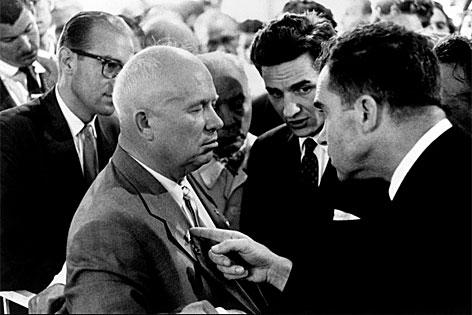 Nikita Khrushchev und Richard Nixon, Moskau, 1959