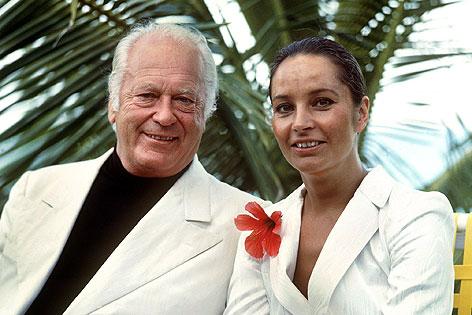 Curd Jürgens mit seiner Ehefrau Margie Jürgens