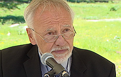 Peter Gstettner vom Mauthausen Komitee Kärnten/Koroška
