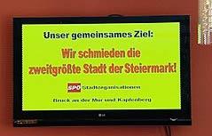 """Das Motto der Fusion: """"Wir schmieden die zweitgrößte Stadt der Steiermark!"""""""