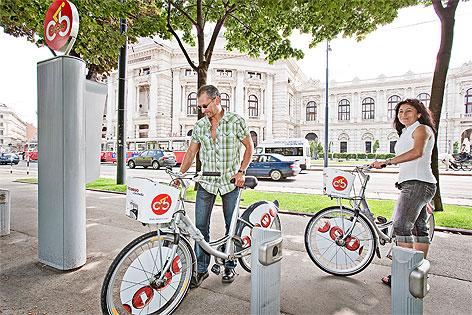 Radler am Citybike