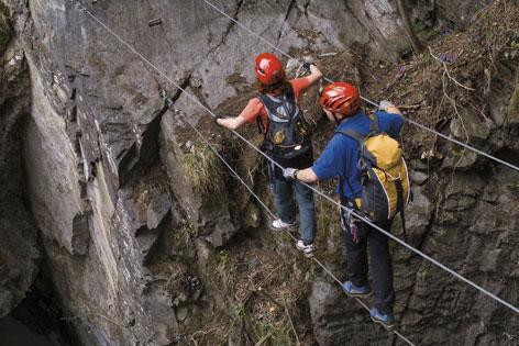 Drei Klettersteige in Mayrhofen; Anfänger, Fortgeschrittene, Profis