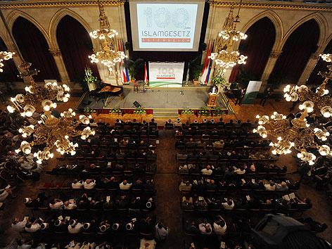 """Festakt """"100 Jahre Islamgesetz in Österreich"""" am Freitag, 29. Juni 2012, im Wiener Rathaus"""
