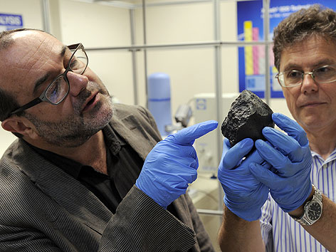 """Der Mars-Meteorit mit dem Namen """"Tissint"""" wurde vom Naturhistorischen Museum (NHM) angekauft"""