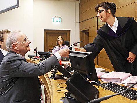 """Neuauflage """"part of the game""""-Prozess, Anwalt Dieter Böhmdorfer,Richterin Michaela Sanin"""