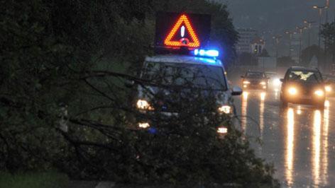Unwetter in Oberösterreich