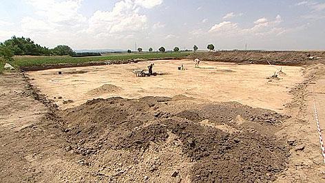 Archäologen in Antau
