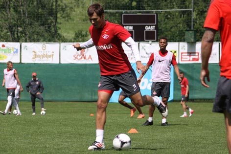 Spartak Moskau beim Training in Neustift 2