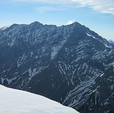 Watzmann mit Westwand und langem Gipfelgrat