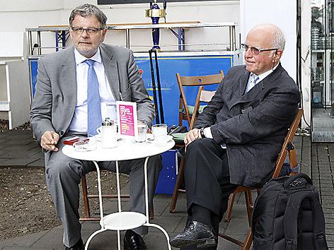 Dietrich Birnbacher und Anwalt Richard Soyer