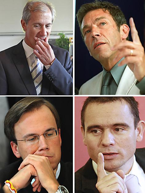 Josef Martinz (l. oben), Jörg Haider (r. Oben), Harald Dobernig (l. unten) und Uwe Scheuch