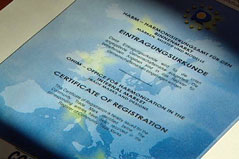 EU-Markenschutz-Urkunde für 'Griaß di'