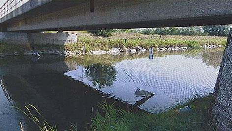 Netz unter einer Leithabrücke