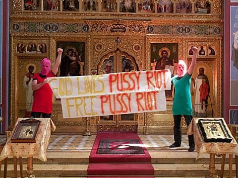 Aktion für Pussy Riot in Wien