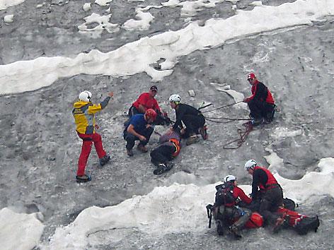 Rettung nach sechs Tagen in Gletscherspalte