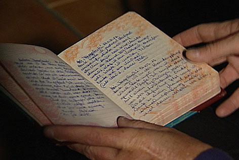 Tagebuch des Opfers, das im Heim des Klosters St. Josef Zwangsarbeit leisten musste