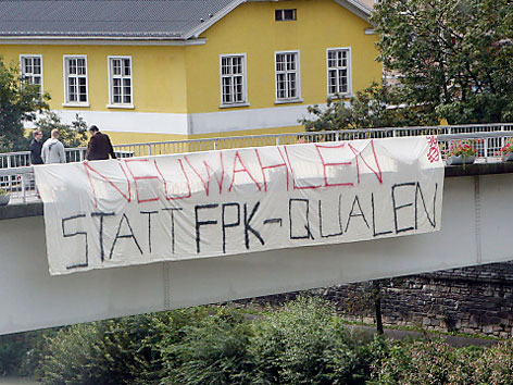 Protestplakat FPK Parteitag
