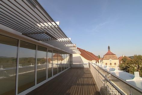 Blick über die Dächer im Ambulatorium